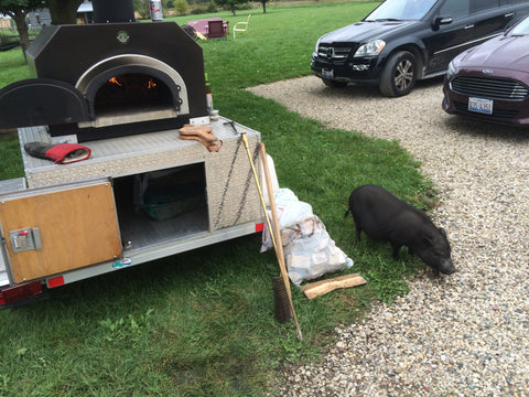 traveling pizza oven