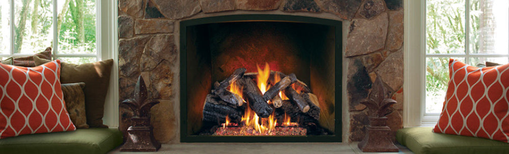 Vent-free gas logs for the fireplace