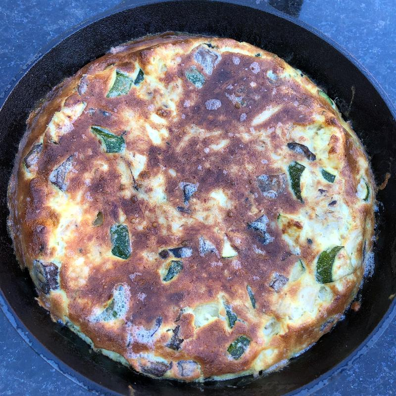 Egg Frittata Recipe - Crab Claw and Vegetables