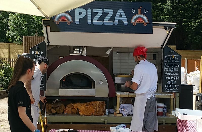 Large pizza oven for food trailer