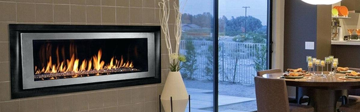 Ventless fireplace that uses gas