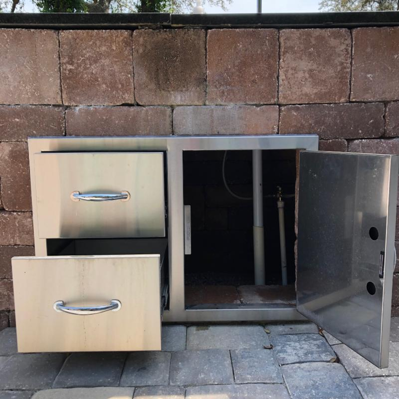 Necessories Outdoor Kitchen Island Kits Installation Steps