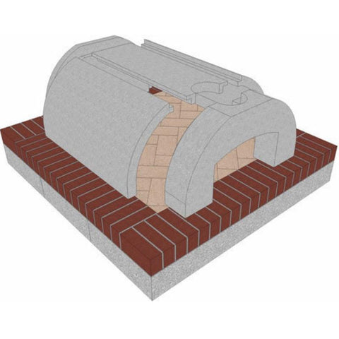 Brickwood Cortile Barile Foam Pizza Oven Kit Form