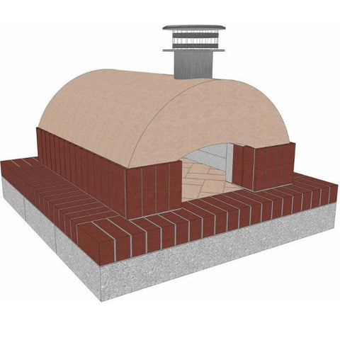 Image of Brickwood Pizza Oven Kit Cortile Barile Foam Form