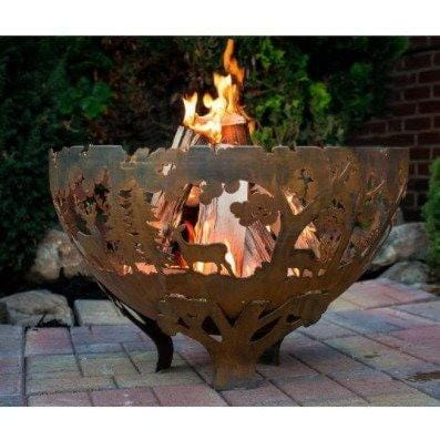Esschert Design Laser Cut Fire Bowl: Wildlife FF1021 Outdoor Heating