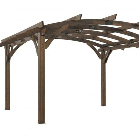 Image of 16x16' Mocha Sonoma Wood Pergola Kit