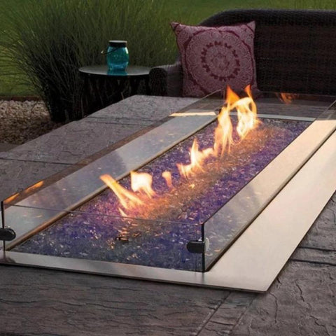 Image of Empire Carol Rose Outdoor Linear Fire Pit 60""