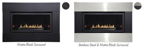 Empire Loft Contemporary Direct-Vent Fireplaces DVL25 Surrounds