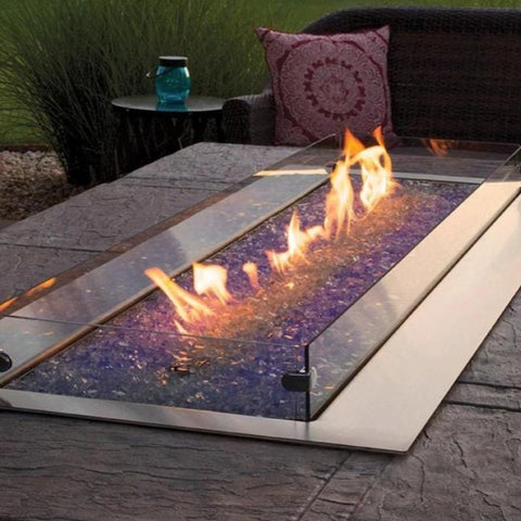 Image of Empire Carol Rose Outdoor Linear Fire Pit 48""
