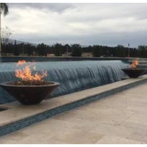 "Fire Pit: 48""D ESSEX Modern By Grand Effects: Outdoor Heating"
