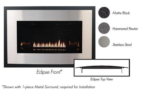 Empire Loft Contemporary Direct-Vent Fireplaces DVL33 Front