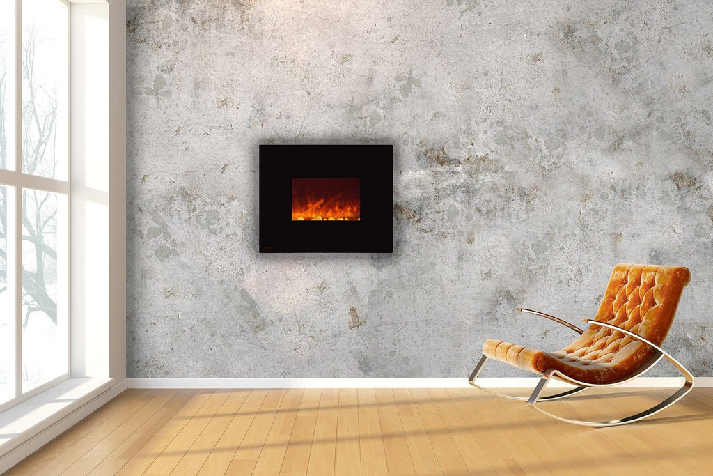 Ignis Wall Mount Royal Black Electric Fireplace 36-inch