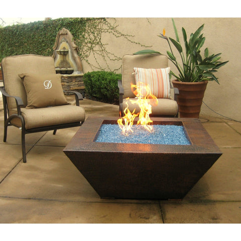 "Fire Pit: 40"" SQ. GRAND CORINTHIAN by Grand Effects: Outdoor Heating"