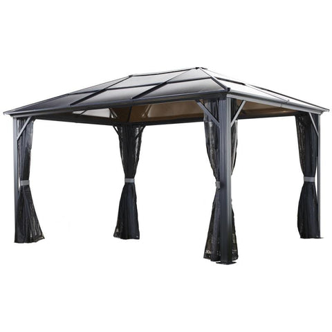 Sojag Meridien Hard Top Gazebo with Polycarbonate Roof