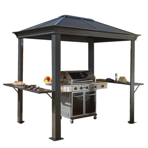 Image of Sojag Mykonos Grill Hard Top Gazebo 5 x 8 ft