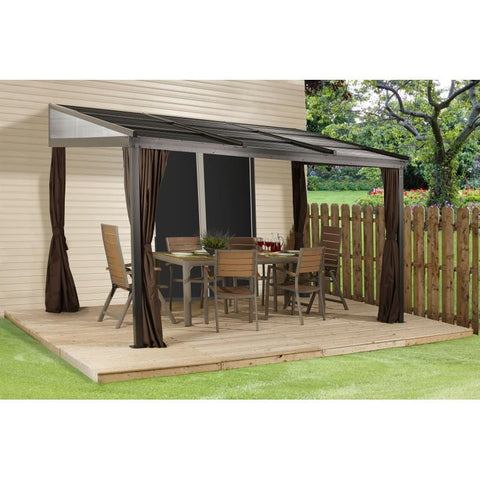 Sojag Francfort Wall-Mounted Hard Top Gazebo 10 x 12 ft