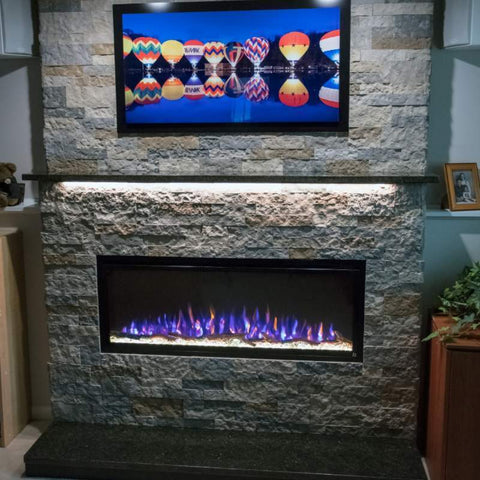"Image of Touchstone Sideline Elite 50"" Recessed Electric Fireplace"