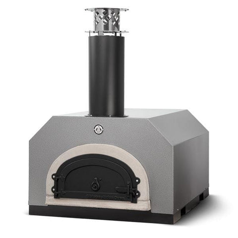 Silver brick oven for cooking pizza