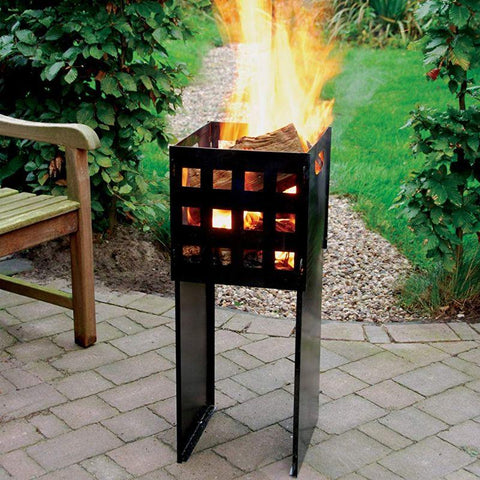 Esschert Design Tall Fire Basket -Powder Coated Sheet Metal