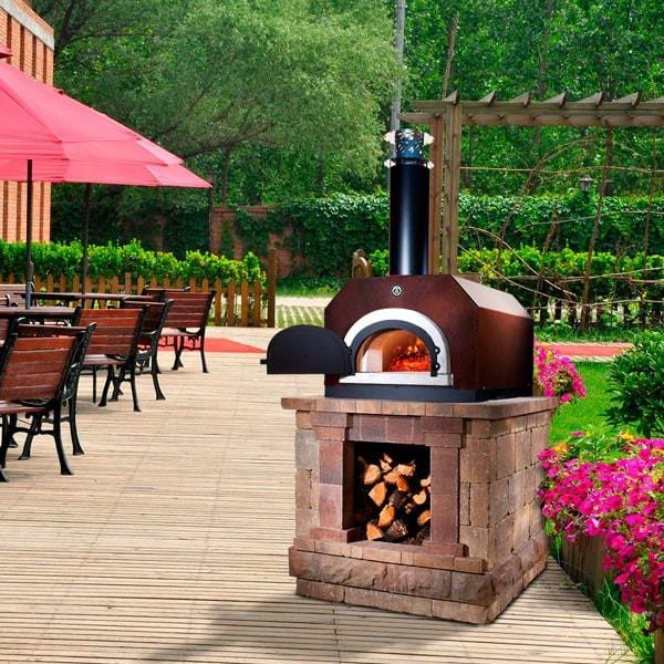 chicago brick oven 750 countertop pizza oven copper patio u0026 pizza 3 - Countertop Pizza Oven