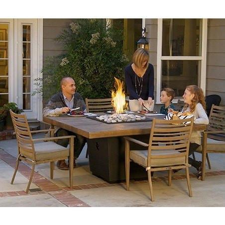 Fire table: French Barrel Oak Square Dining Table American Fyre Design