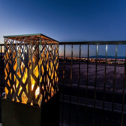 Image of American Fyre Designs Nest Lantern | Gas Fire Pit