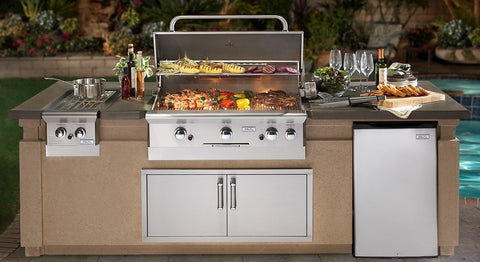 AOG 790 9' Complete Grill Island System - AOG-DC790-CBR-108SM