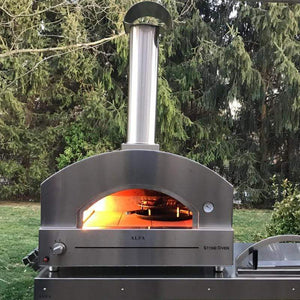 Cooking in the Alfa Stone Gas Pizza Oven