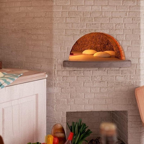 Image of Cooking bread in the Alfa Cupolino DIY Pizza Oven