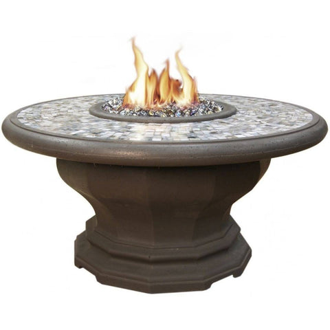 Image of Inverted Dining Firetable By American Fyre Designs Artisan Glass Edition