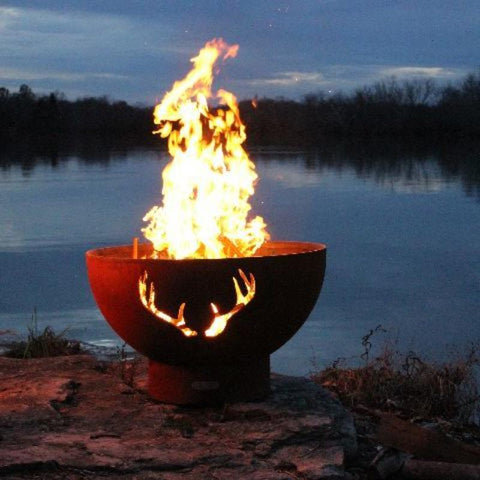 Image of Fire Pit Art - Antlers