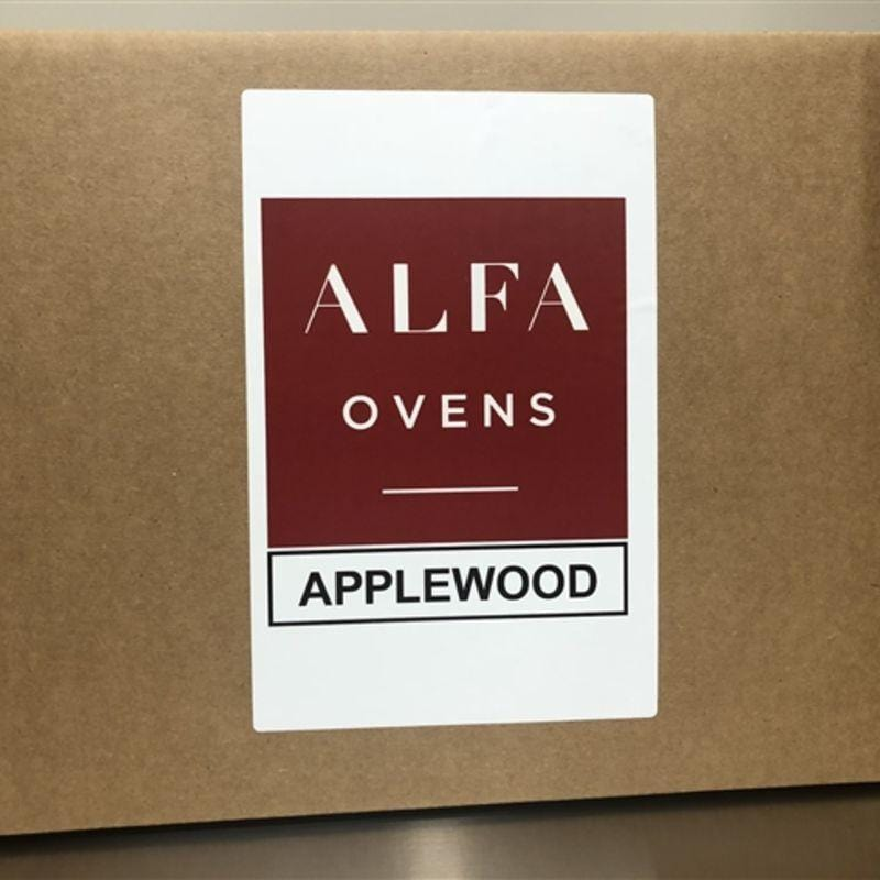 Box of Apple Wood for Cooking in Wood-Fired Oven