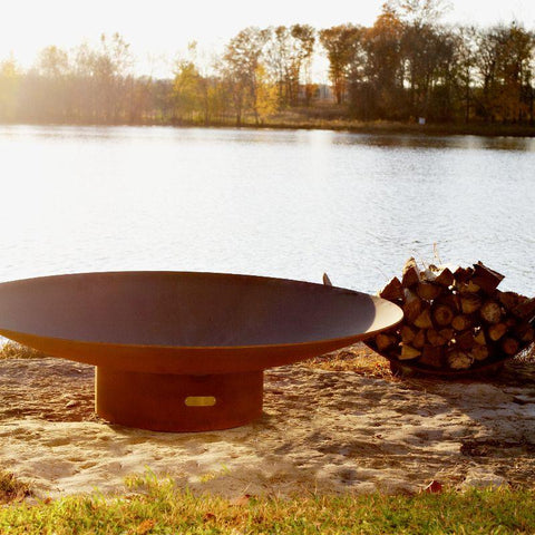Fire Pit Art - Gas and Wood Fire Pit - Asia 60-inch