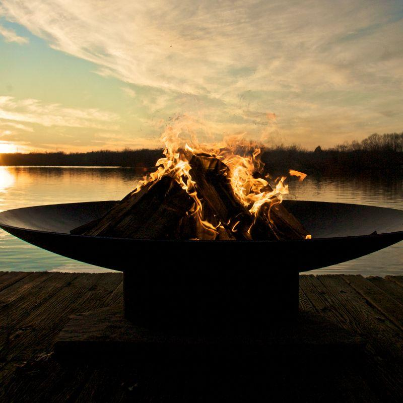 Fire Pit Art - Gas and Wood Fire Pit - Asia 72""