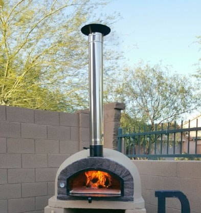 Wood Fired Pizza Brick Oven APOBRAZ with chimney
