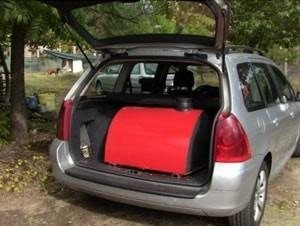 Image of Maximus Portable Outdoor Pizza Oven in Car
