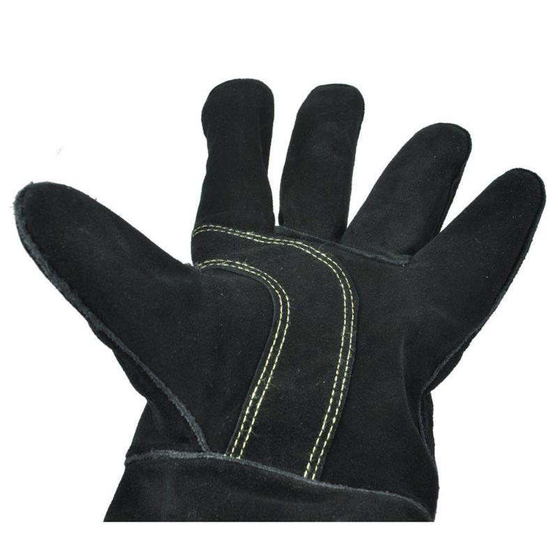 BBQ Gloves heat and fire resistant Oven Gloves  Leather and Kevlar Stitching