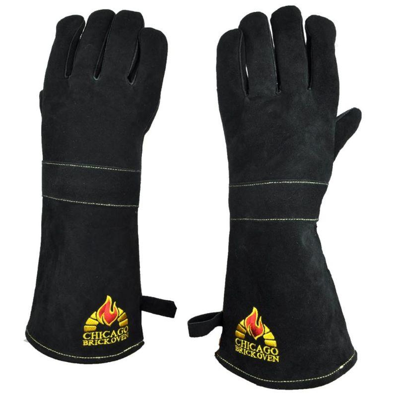 One Size Fits all Oven Gloves  Premium Cowhide Leather and Kevlar Stitching