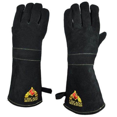 Image of One Size Fits all Oven Gloves  Premium Cowhide Leather and Kevlar Stitching