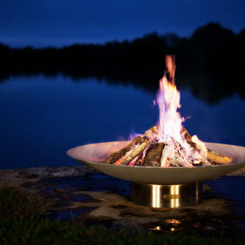 Fire Pit Art - Gas and Wood Fire Pit - Bella Vita 70