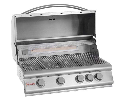 Image of Blaze 32-Inch 4-Burner Grill With Blaze 32-Inch Grill Cart