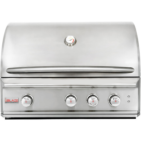 Image of Blaze Professional 34-Inch 3 Burner Built-In Gas Grill With Rear Infrared Burner