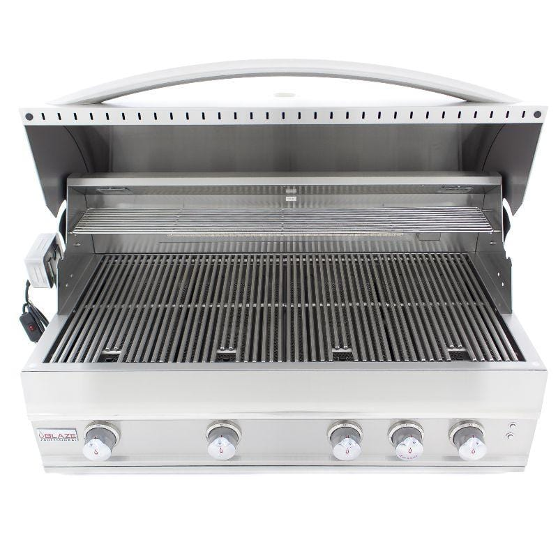 "Blaze Professional 44""-inch 4-Burner Built-In Gas Grill With Rear Infrared Burner"