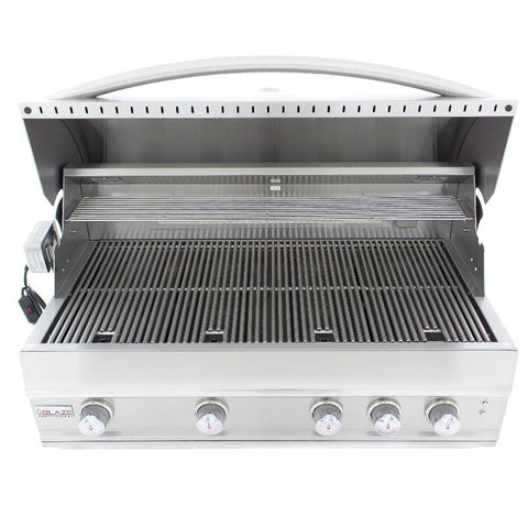 "Image of Blaze Professional 44""-inch 4-Burner Built-In Gas Grill With Rear Infrared Burner"