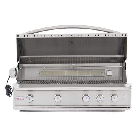 Image of Blaze Professional 44-inch 4-Burner Built-In Gas Grill With Blaze Professional Grill Cart