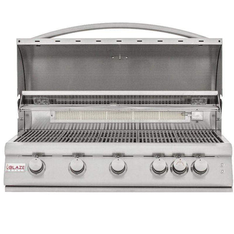 Blaze 40-inch 5-Burner LTE Gas Grill With Blaze 40-Inch Grill Cartin Lighting System
