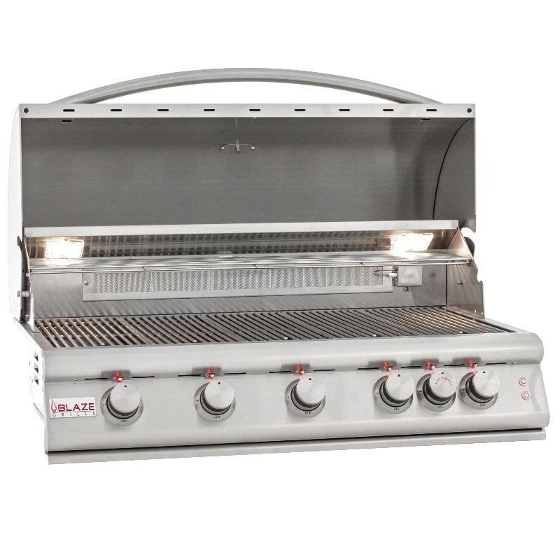 Blaze 40-Inch 5 Burner LTE Gas Grill With Rear Burner and Built-in Lighting System