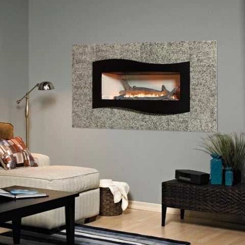 Image of Empire Boulevard Linear Contemporary Vent-Free Fireplaces 48""