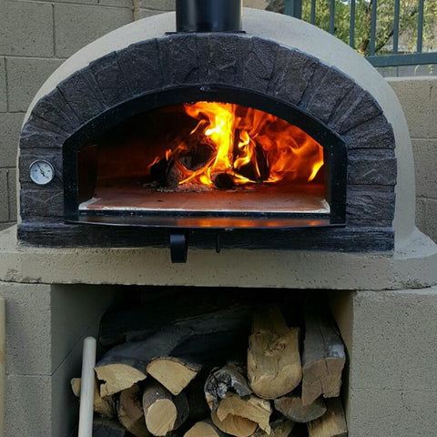 Image of Authentic Pizza Ovens Brazza Brick Wood Fired Oven APOBRAZ - Patio & Pizza