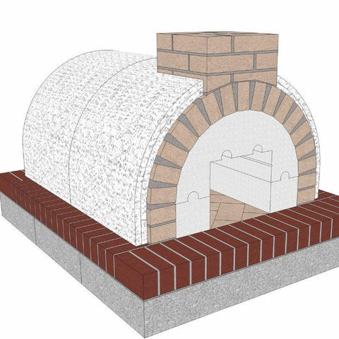 Image of Brickwood Pizza Oven Kit Mattone Barile Grande Package 2